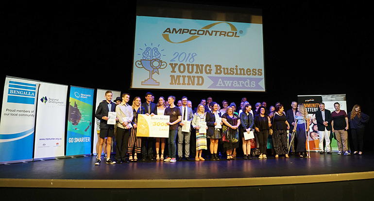 Finalists in the 2018 Ampcontrol Hunter Young Business Mind Awards