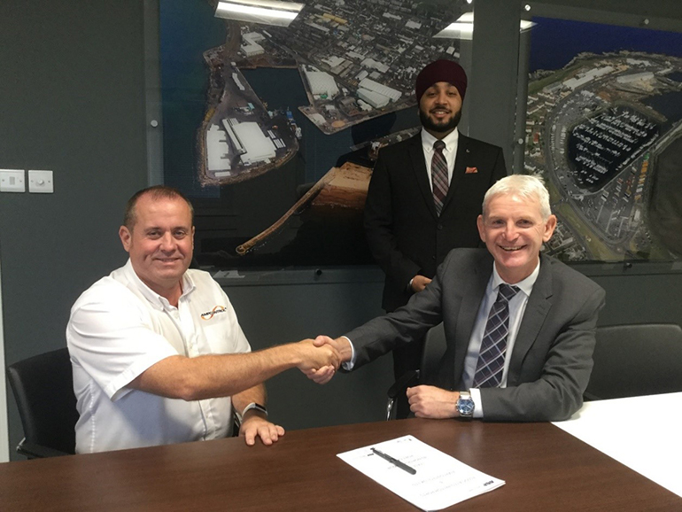Steve Edmund Signs Contract with Port of Ayr