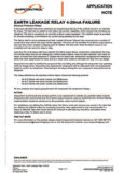 earth leakage relay application note
