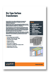 Dry Type Surface Transformers